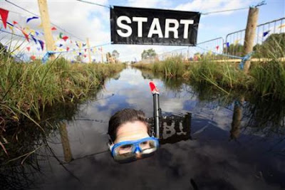 the Northern Ireland Bog Snorkeling Championships