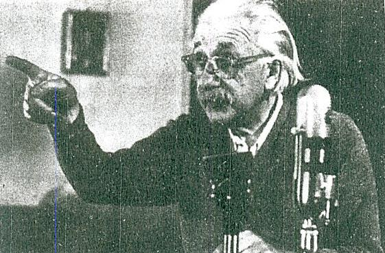 EINSTEIN IN TELEVISION TALK OF THE DANGER OF NUCLEAR WEAPONS FOR HUMANITY