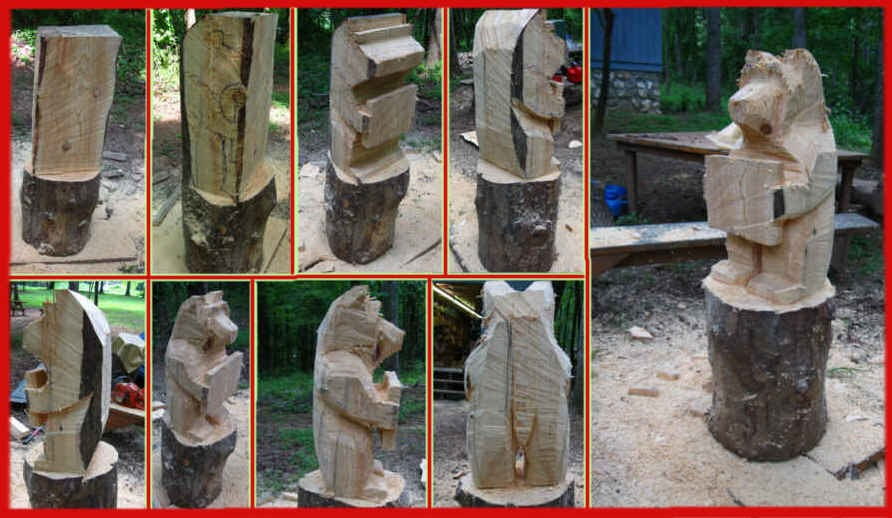 Wip part chainsaw carved bear wood trails dave brock