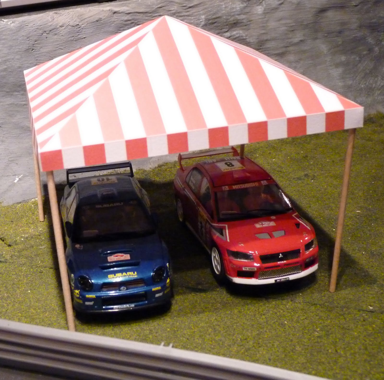 A satellite transmitter for BBC live coverage of my races & My Scalextric: Track Detailing