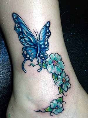 flower tattoo designs on foot. tattoos designs on foot.