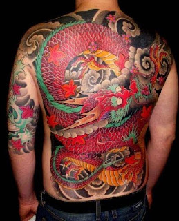 Backpiece Japanese Dragon Tattoo Designs