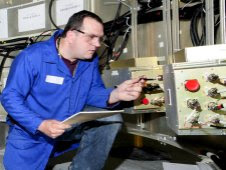 ATK test engineers make final systems checks during avionics string tests. Credit: ATK