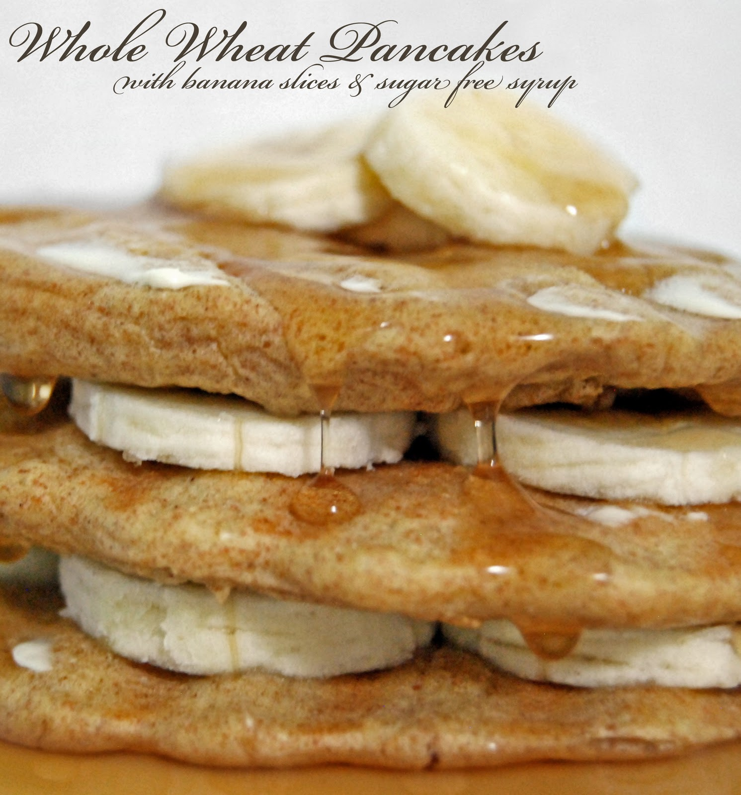 Rural Housewife: Whole Wheat Pancakes & Bananas
