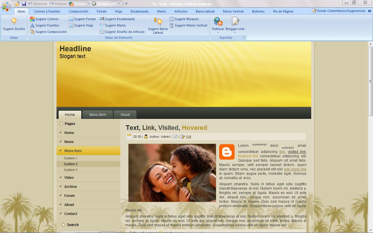 NedWeb: Programa para crear plantillas de paginas web ARTISTEER
