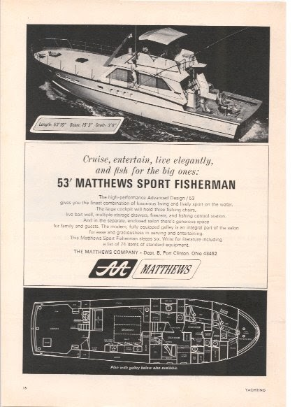 Classicadshop Com 1967 Matthews Boat Company Magazine Ad
