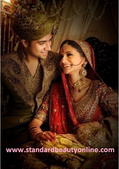beauty and hair salon indian bride and groom groom and