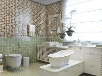 Aplicação de pastilhas em banheiros