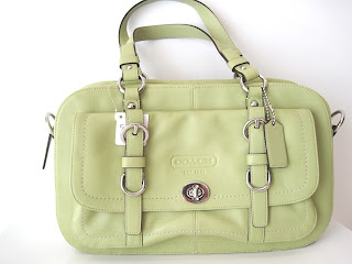 coach handbag usa factory outlet zplo  Tag Name: CHLS LTH SAT;SILVER/PEA Condition: New with Tags NWT Comes with  official Coach USA Factory Outlet gift receipt to verify authenticity