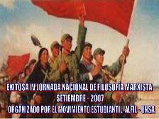 MOVIMIENTO ESTUDIANTIL ALFIL DESARROLLÓ EXITOSA IV JORNADA DE FILOSOFÍA MARXISTA - SETIEMBRE