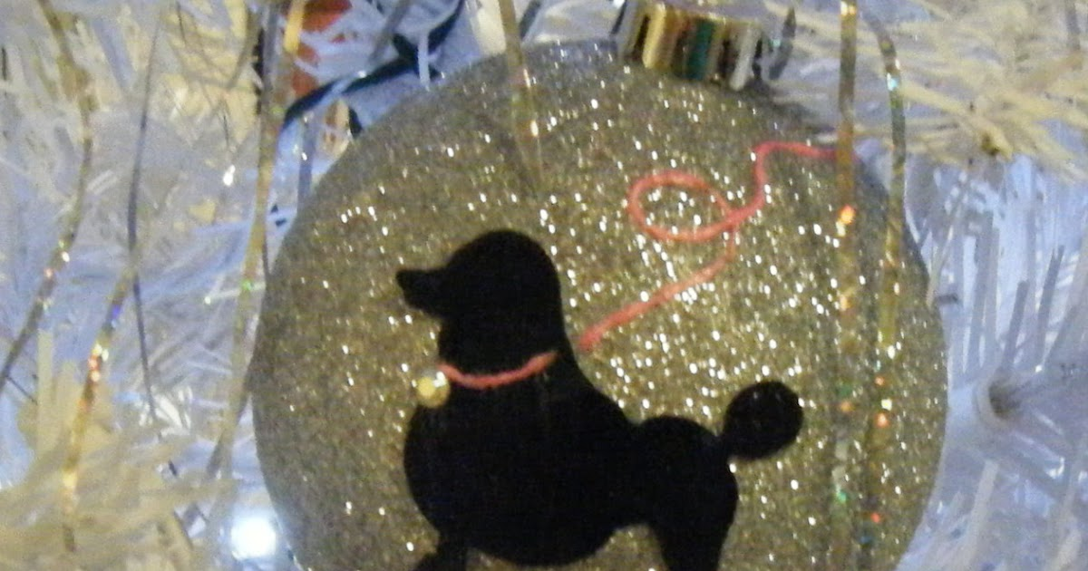 sew doggystyle poodle dog silhouette ornament balls