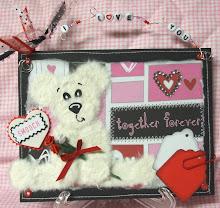 Valentine Tear Bear w/roses