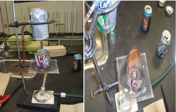soda can calorimeter mo 2 Investigate how calorimetry can be used to find relative specific heat values when different substances are mixed with water modify initial mass and temperature values to see effects on the.