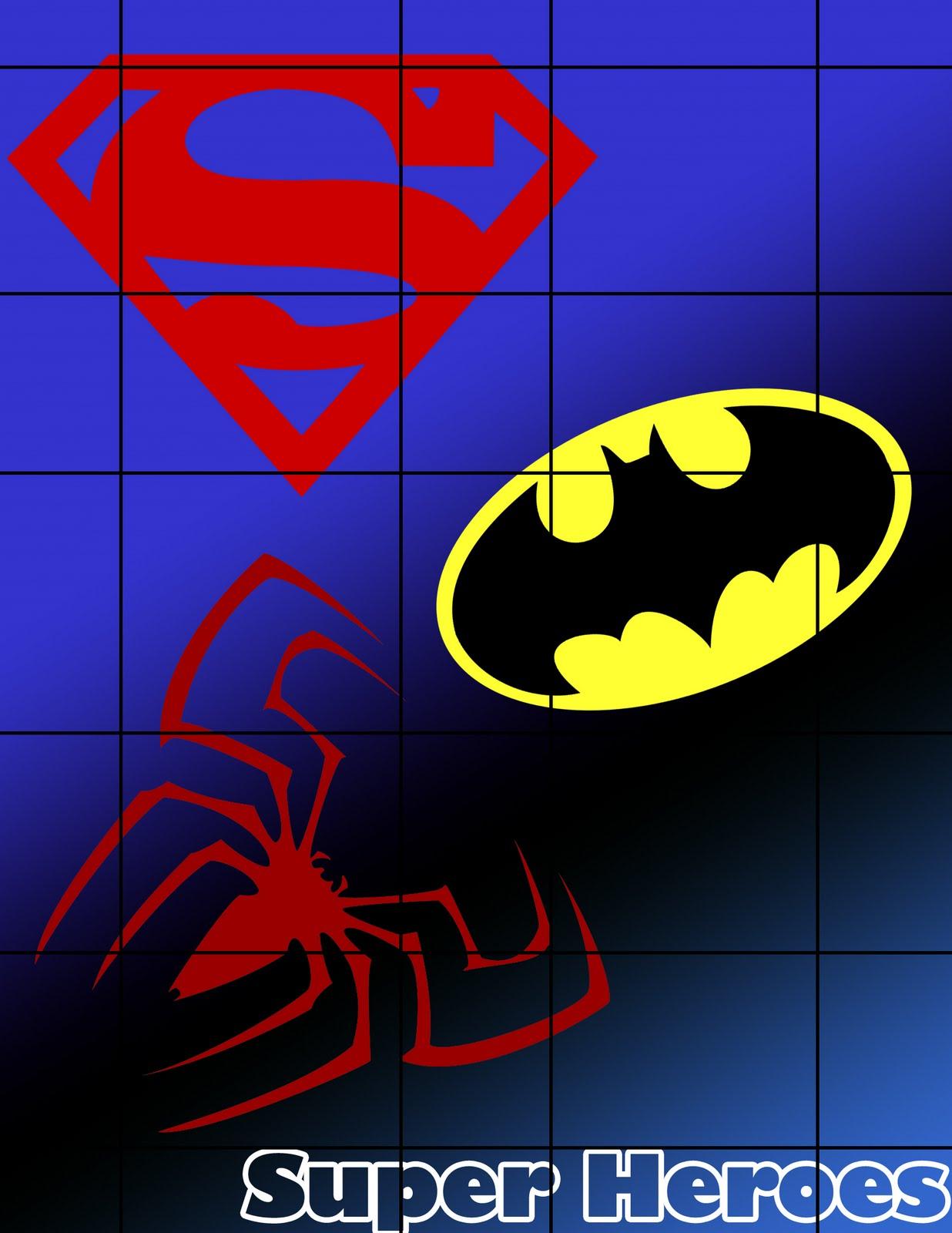 Listo Para imprimir-: Rompecabezas de Super heroes