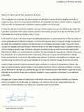 Carta traduzida (Portugês)