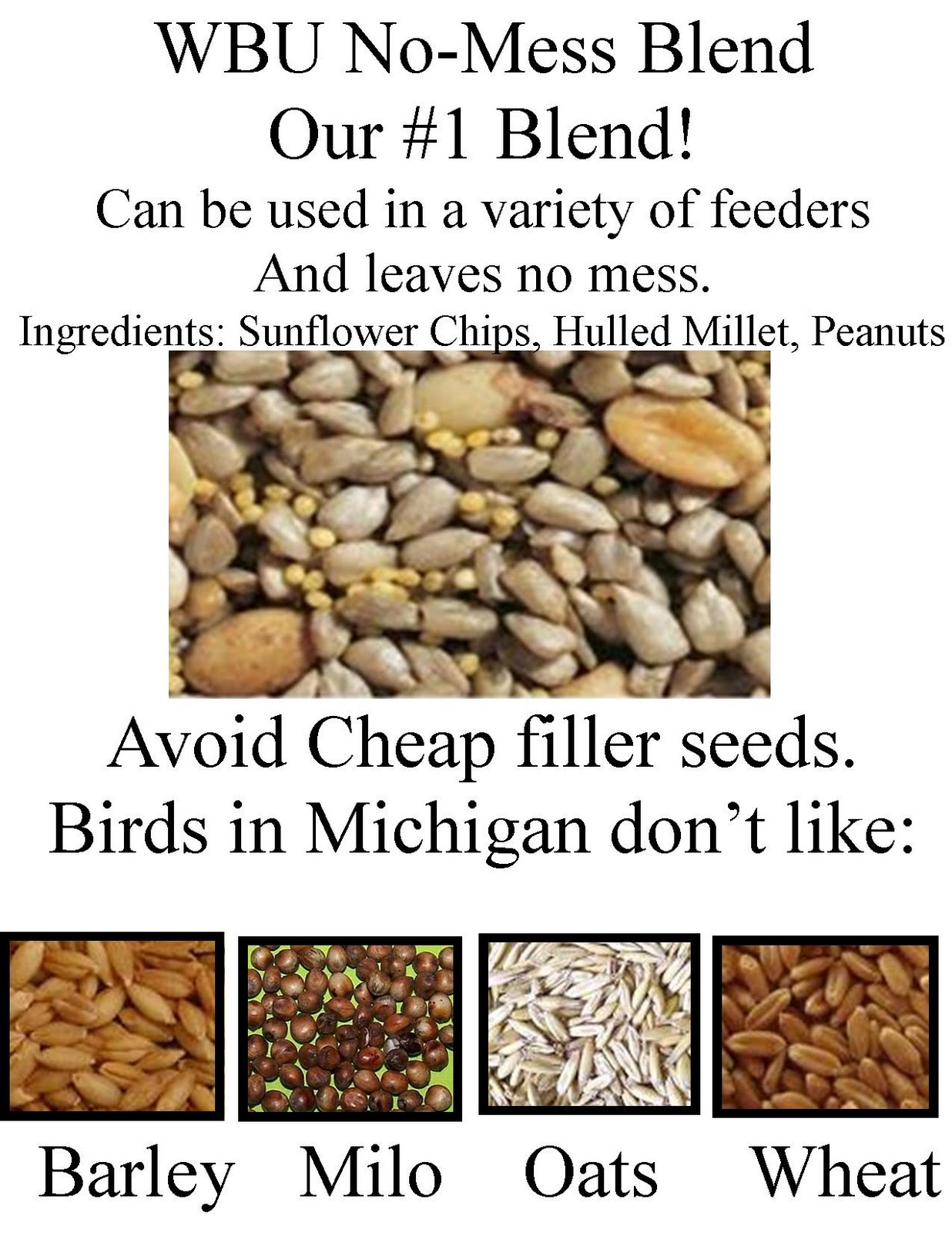 wild birds unlimited what is the best seed to feed birds in the