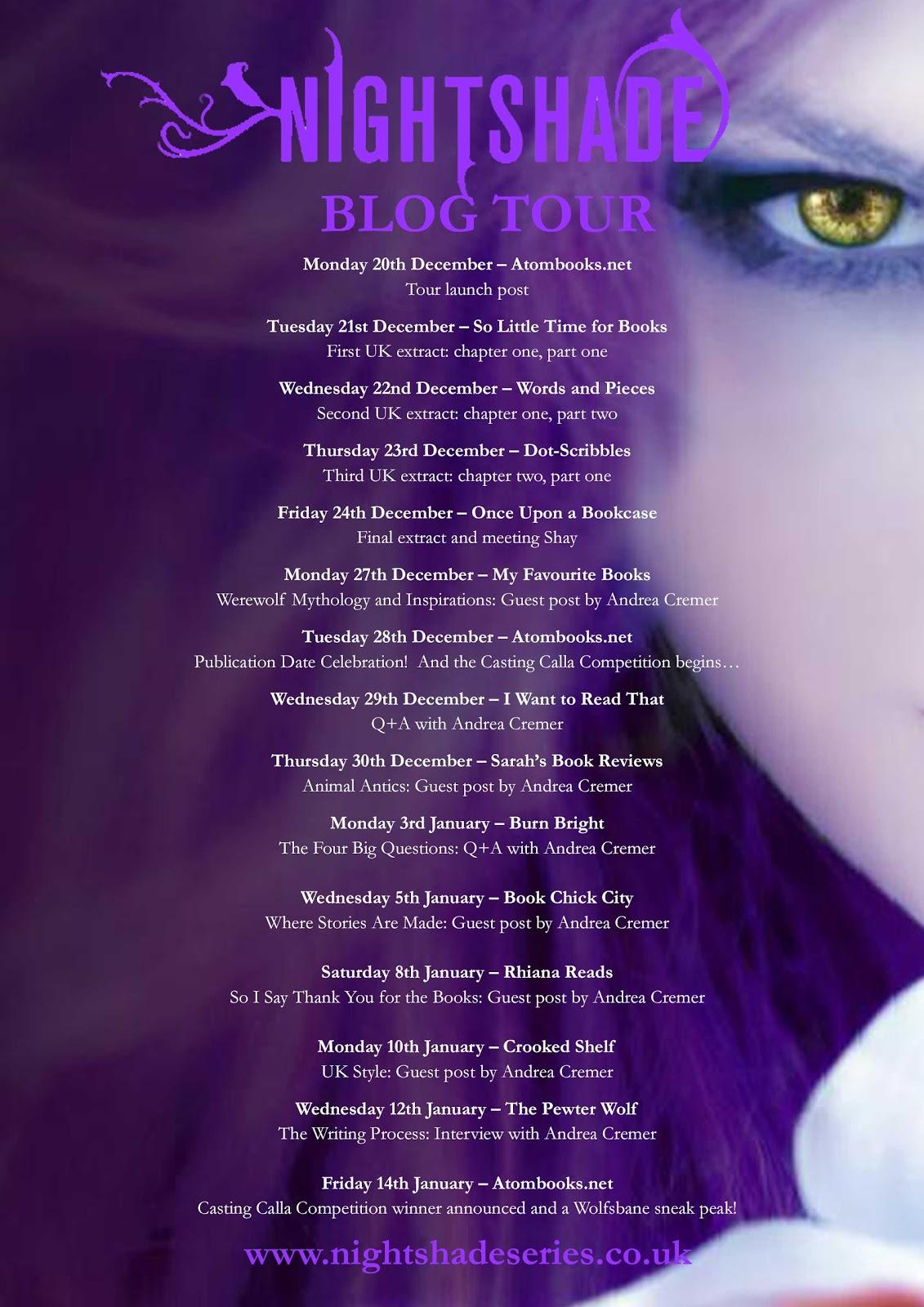 Nightshade Blog Tour Schedule