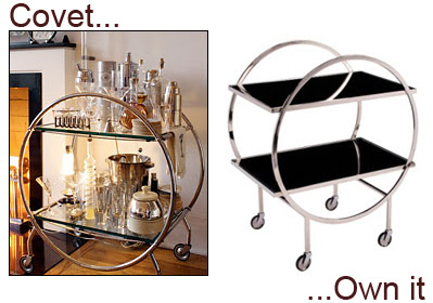 Covet Own It Art Deco Bar Cart