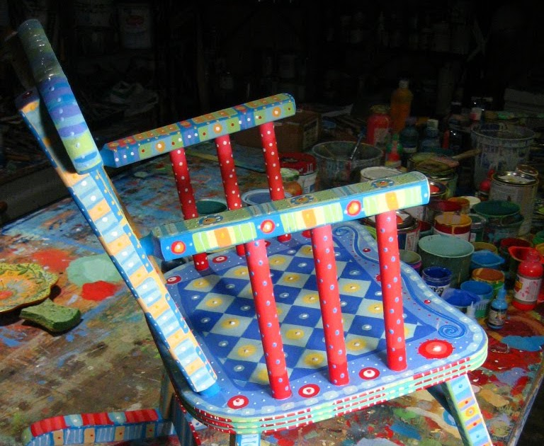 Unpainted Furniture Little Rock Painting It: Child's Rocking Chair, Last Furniture For A While....