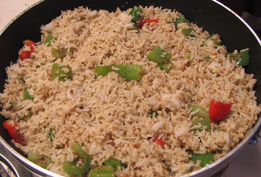 This recipe was in my draft and I forgot about Bell Pepper Masala Rice