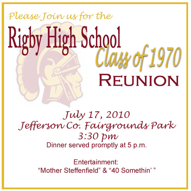 Class Reunion Invitation   RSVP By July 10  Class Reunion Invitations Templates