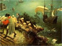 The Fall of Icarus, by Breughel