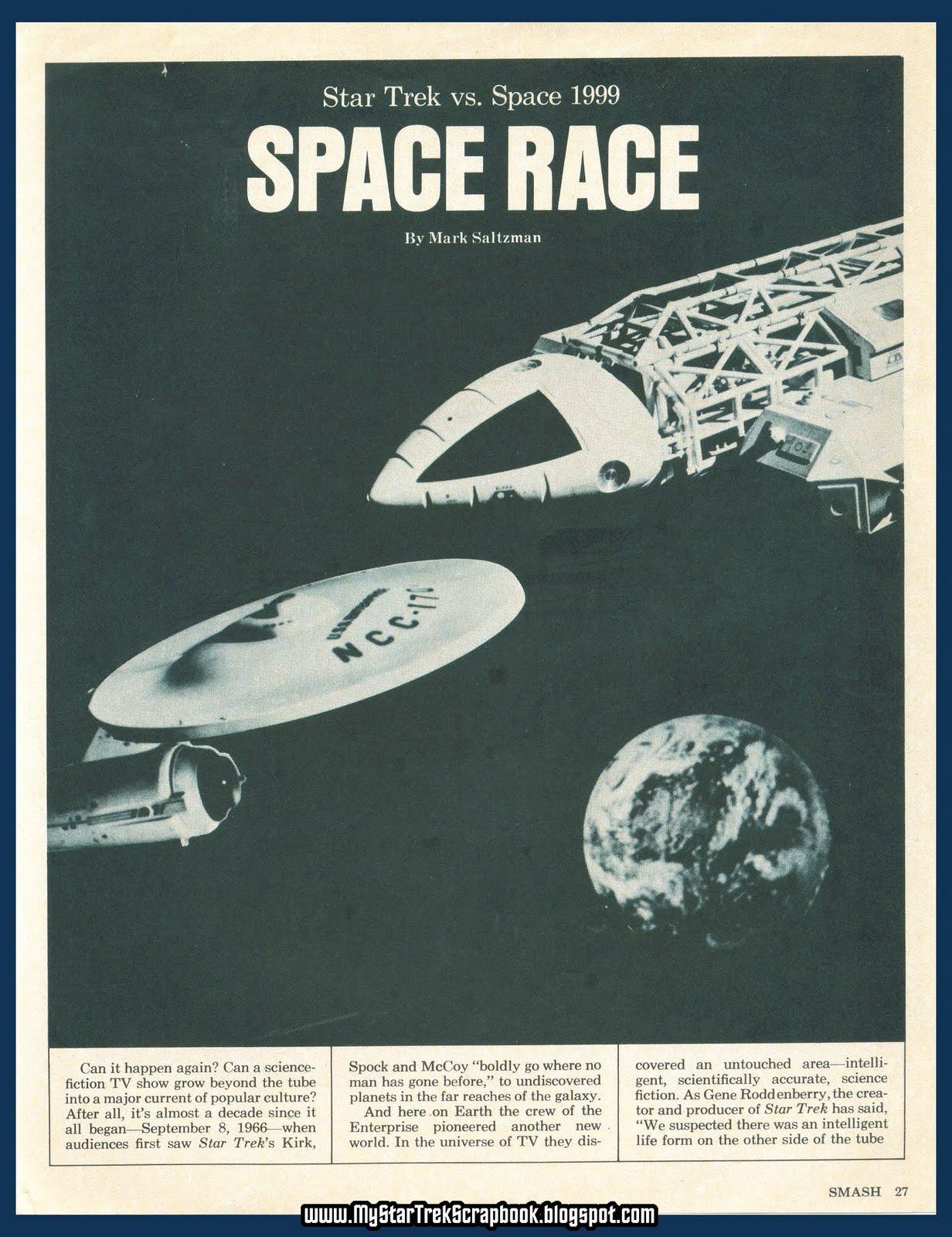 My Star Trek Scrapbook: Space Race: Trek vs. Space:1999