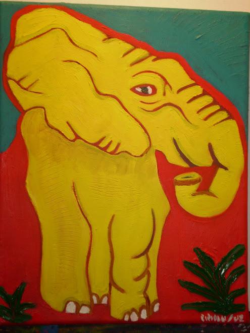 Elefante amarillo Juana Alfaro.