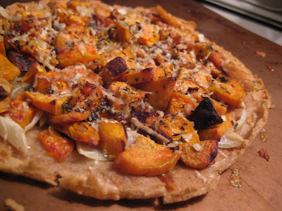 gluten free sweet potato pizza