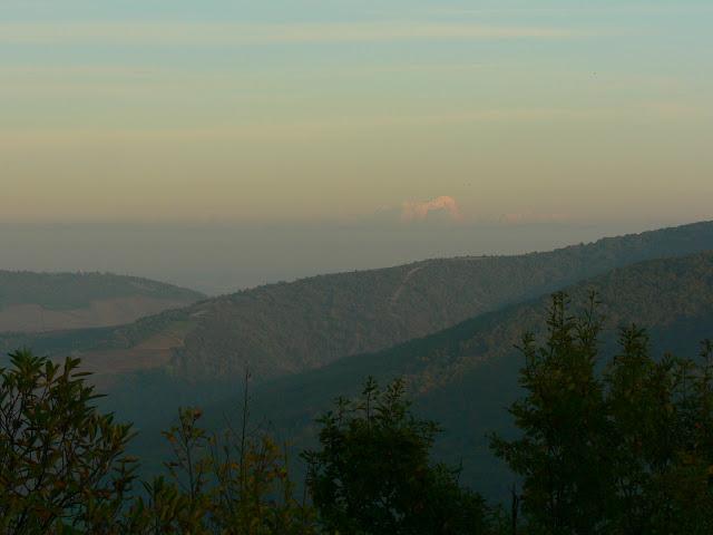 Vue sur le Mont Blanc à partir du Beaujolais