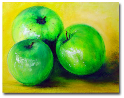 Green Apples - Oil Painting by AJ LaGasse