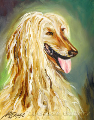 Afghan Hound Painting