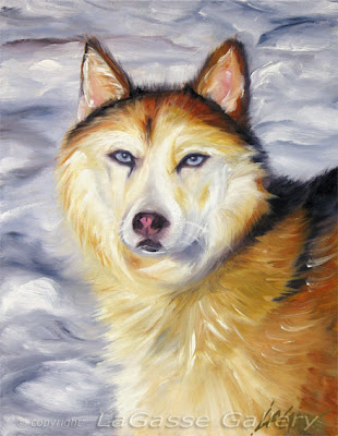 Husky Painting