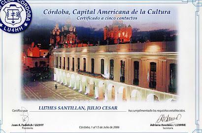 CORDOBA, CAPITAL AMERICANA DE LA CULTURA