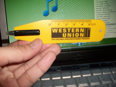 western union promo ballpen