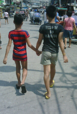 rampa bakla, youngs gays walking down the street