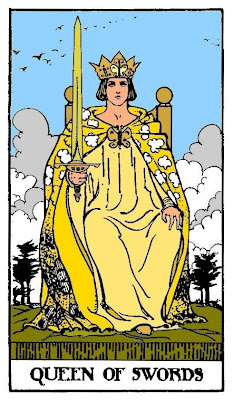 queen of swords, tarot card