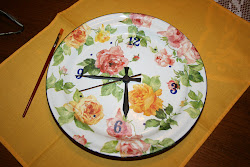 Orologio con le rose. Tutorial...