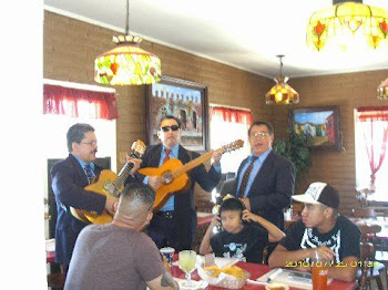 Diners were serenaded at table in front of our table...