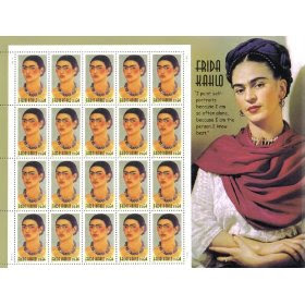 2001 FRIDA KAHLO #3509 Pane of 20 x 34 cents US Postage Stamps