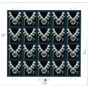 2004 NAVAJO JEWELRY #3750 Pane of 20 x 2 cents US Postage Stamps