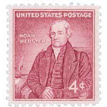 #1121 - 1958 4c Noah Webster Postage Stamp Numbered Plate Block (4)