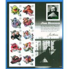 Full Sheet of 11 Jim Henson and the Muppets 37-cent Stamps #3944
