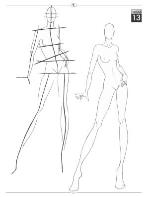 female croquis templates