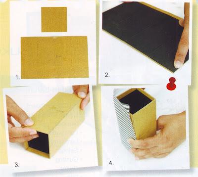 pola). Buat pola untuk alas kotak (lihat pola). Jiplak pola-pola itu