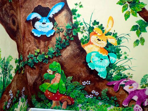 Furry Forest Friends Wall Mural - Hot Girls Wallpaper