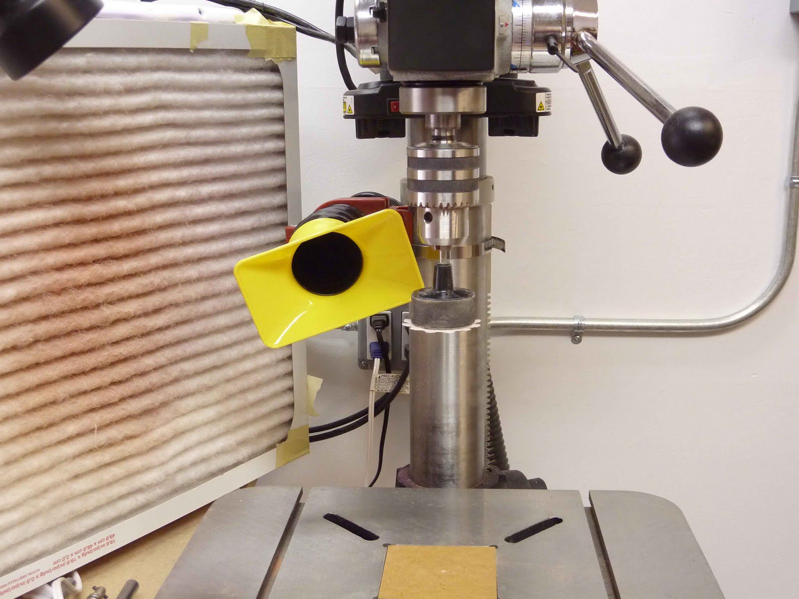 scroll saw bowls dust collection system for the drill press