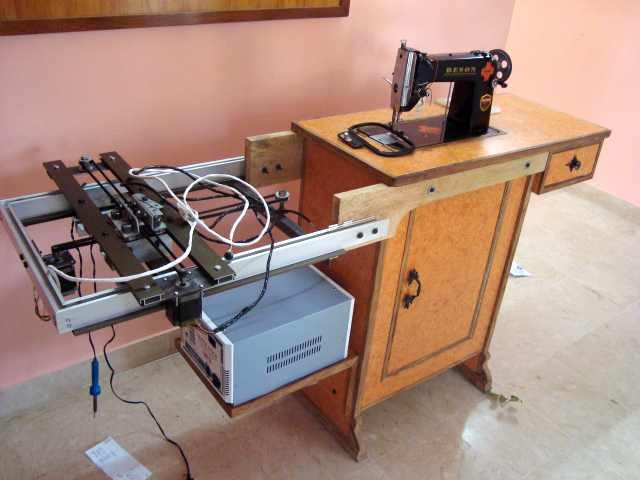 My woodwork diy cnc embroidery machine