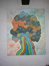 gemalte Abstraktion der Natur