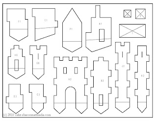 cut out castle template - the gallery for barber pole wallpaper